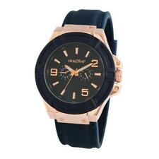 Silicone/Rubber Band Men's Round Watches with 12-Hour Dial