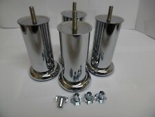8x chrome legs for sofa, settee foot stools beds (120mm 50mm)&(50x50