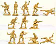 Matchbox WWII Afrika Korps - 15 54mm unpainted figures mint in sealed bag
