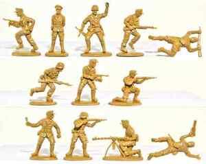 Matchbox WWII Afrika Korps - 15 54mm unpainted figures mint in sealed bag