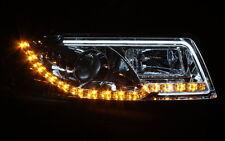 KLARGLAS CHROM SCHEINWERFER für AUDI A4 B6 8E 00-04 TAGFAHRLICHT TFL LED BLINKER