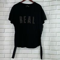 NWOT G by GUESS REAL Black Top Side Strings XL