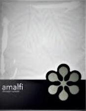 SHOWER CURTAIN - AMALFI WHITE 180 CM X 180 CM (WITH HOOKS)