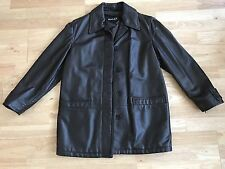 Women's Bally brown leather coat size 10 petite