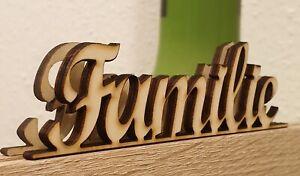 Familie 20 cm Schriftzug Wanddeko Wohnen Holz Deko Familienschild DIY