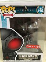 Funko Pop! Heroes Aquaman BLACK MANTA Target Exclusive Vinyl Figure # 248 New