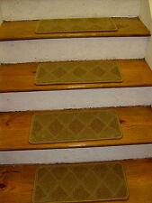 "13= Step 9"" x 24'' + Landing 24"" X 24"" Stair Treads Heat Set Nylon WOVEN CARPET."
