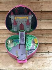 Vtg 1992 Polly Pocket Bluebird Toys Starlight Castle Pink Heart Shape Case Toy