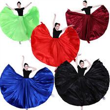 Women Ballroom Dance Skirt Waltz Tango Dress Modern Belly Flamenco Costume
