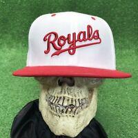 Rare Kansas City Royals Nebraska Cornhuskers Red White Snapback Hat Cap