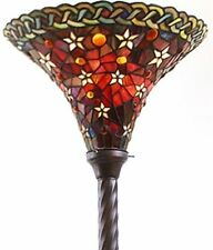 Antique Tiffany-style Vintage Star Torchiere Lamp Tiffany Lamps Torch Floor NEW