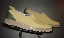 Donald J Pliner Sport Italy Olive Green Stretch Fabric Casual Cool Loafer Sz. 7M