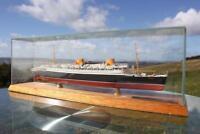NORTH GERMAN LLOYD SS BREMEN FULL HULL SUPERB DETAILED OCEAN LINER MODEL 1:1900
