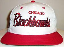 VINTAGE 90's CHICAGO BLACKHAWKS NHL SPORTS SPECIALTIES SCRIPT SNAPBACK HAT
