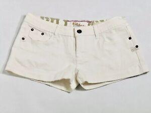 Billabong Juniors Size 3 White Denim Shorts, #C31