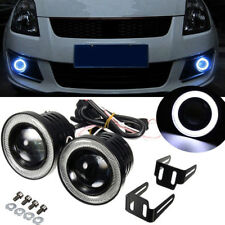 2x 2.5'' Car Angel Eye COB Halo Ring LED DRL Projector Len Fog Driving Light SUV
