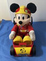 Disney's Mickey Mouse Race Car Driver Battery Operated Works Tested w/ Roadster