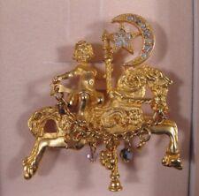Kirks Folly CAROUSEL HORSE & CHERUB Pin - New in Box
