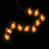 10 Led Santa Lights Pendant Fiber Optic Christmas Party Lighting String Light