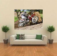 Motocross Bike Honda Giant Wall Art Poster Print