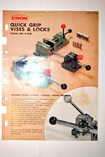 ERON QUICK VISES & LOCKS STOCK No E-250 LEAFLET 28-78 #RR948 models EVS ETS