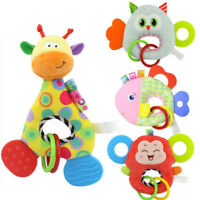 Baby Infant Animal Soft Rattles Teether Hanging Bell Plush Bebe Toys