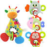 Baby Infant Animal Soft Rattles Teether Hanging Bell Plush Bebe Toys   A+