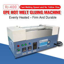 RJ-400 EPE Hot Melt Gluing Machine Fast Melting Speed and no Yellow Glue