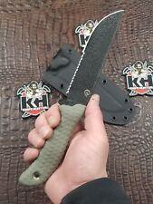 Scrap Yard Knife Co M/O Mudd Mutt w/ Blk Azwelke Sheath Unused Busse Combat