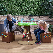 Kids Pirate Outdoor Garden Patio Table & Stools Furniture Set for Children