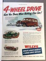 1950 Willys Jeep Wagon Vintage Advertisement 11x14 Print Art Car Ad LG66