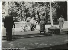 5 Fotos Wildbad 1937 Parteimitglieder beim Minigolf, Schwarzwald, Golfspieler