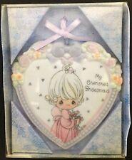 Enesco Precious Moments Collection Wedding Porcelain Ornament Bridemaid