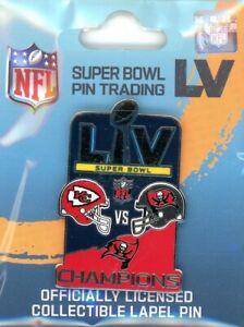 Buccaneers Super Bowl LV Champs Medium Pin 55 Tampa Bay champions wincraft