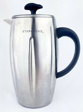 2003 Starbucks Signature Barista Insulated Thermal French Press Stainless 32 Oz