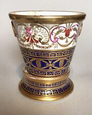 Antique Georgian Coalport English Porcelain Cache Pot & Stand - Roses