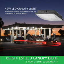 1000LED 45W LED Canopy Light For Gas station Garages AC120-277V With UL DLC