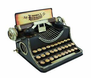 New Antique Looking Tin Typewriter Coin Bank UT587
