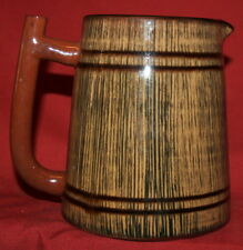 Vintage Hand Made Glazed Redware Pottery Stein Mug