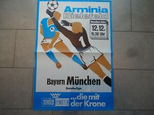 ORIGINAL ANKÜNDIGUNGSPLAKAT vom 12.12.1981 ARMINIA BIELEFELD : FC BAYERN MÜNCHEN