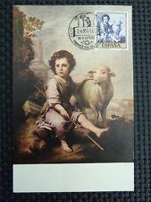 SPAIN MK 1960 MURILLO SHEEP PAINTING MAXIMUMKARTE CARTE MAXIMUM CARD MC CM c1853