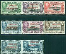 GRAHAM LAND 2L1-8 SG#A1-8 MH 1944 Defin set of 8 Cat$28