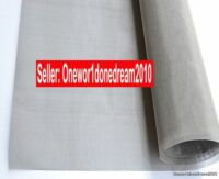 1Pc New Stainless Steel 316 SST 400 Mesh Filtration 30*30cm 12''*12'' Woven Wire