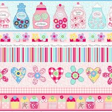 Fat Quarter Sweet Shoppe Stripes Quilting Fabric - Benartex
