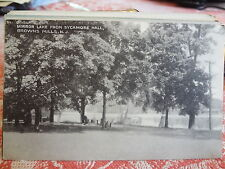 1952 Mirror Lake Sycamore Hall Browns Mills NJ New Jersey Post Card