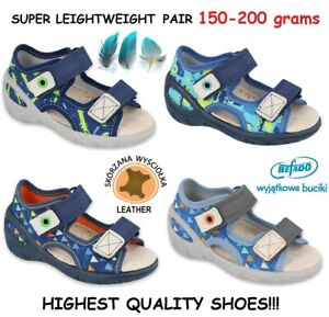 SALE BABY KIDS BEFADO boys canvas shoes slippers sandals leather insole 4-8UK