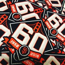 """San Francisco Giants 60th Anniversary Small Event Patch 1.75""""X 1.75"""" LXW"""