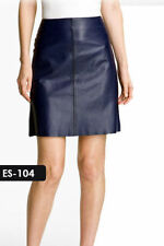 Leather A-Line Mini Skirts for Women