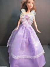 Doll clothes for barbie Dress Lavender Purple With Hearts Purple Lace