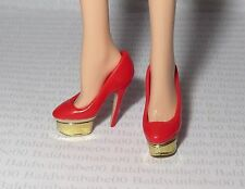 SHOES ~ STANDARD BARBIE DOLL CHARLOTTE OLYMPIA RED GOLD STILETTO HIGH HEELS